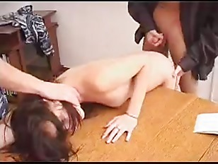 Picture Russian Bitch Gets Fucked By Two Army Guys
