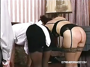 Landlord spanks submissive mai