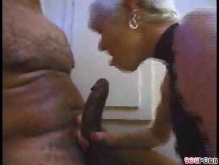 Picture Blonde Donminates Black Cock