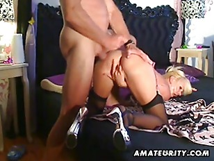 Amateur escort gets ass jizzed