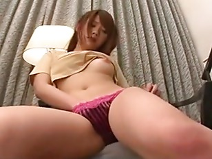 Japanese babe plays with her p