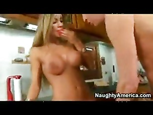 busty blonde chick fuck in kit