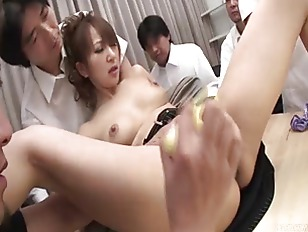 Office slut Anna becomes the m