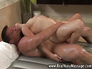 Nuru babe massage handjob and