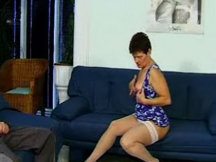 Picture Granny In White Stockings Excites The Boy