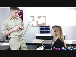 Picture Uniform Young Girl 18+ Ho Bangs And Sucks Ja...