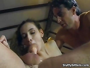 Picture Sexy Babysitter Gets Nailed By 2 Guys