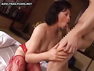 Korean milf on couch