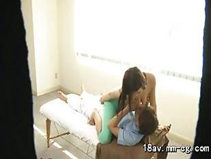 massager fuck his client