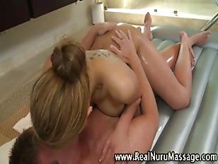 Naughty busty asian rubs
