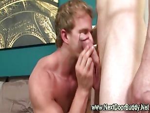 Hot hungry jock sucks on cock