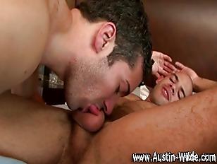 Horny gay pornstar mounts gay