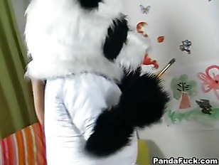 Picture Passionate Cutie Fucks With Big Panda