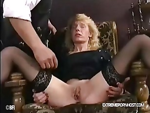 Bare hand pussy and ass spanki