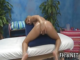 Lovely babe loves massage