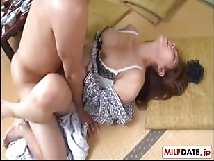 Japanese milf fuck by her sons friend
