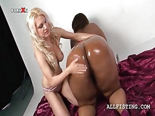 Oily BBW Lesbo Ebony Gets Tits