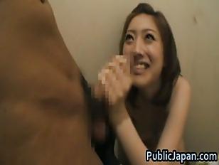 Ai Haneda Asian model gives a