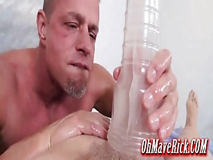 very hot and oily cock massage