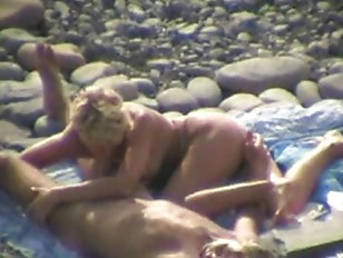 Voyeur video with outdoor bj