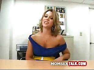 Gorgeous milf talk and strip