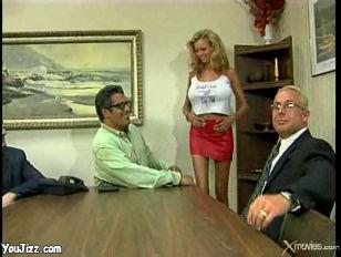 Boardroom blowjob
