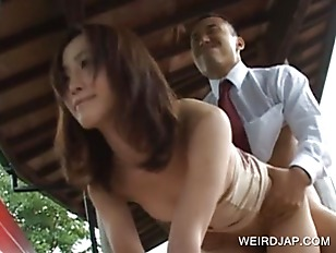 Asian banged by dude on the ph