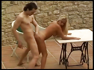Hot blonde fucked outdoors