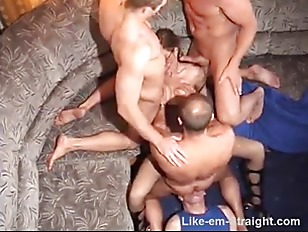 3 Str8 muscle studs orgy 3 guy