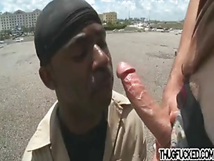 Thug Gets Cock In The Ass By White Jock