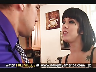 Picture Hot Tattooed Brunette Gets Ass Licked And Pu...