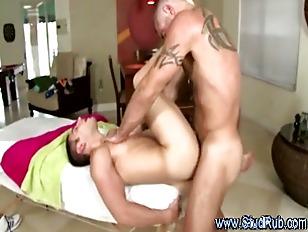 Mature gay masseur sucks and a