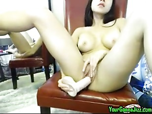 Sexy Asian Slut Plays and Toys On Web Cam