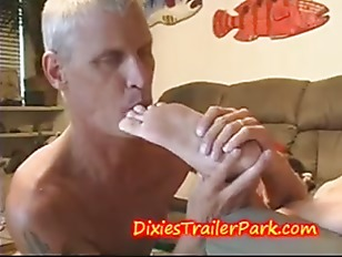 FOOT FETISH  Daddy cums on his