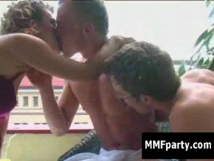 Two bisexual guys and girl make the perfect threesome