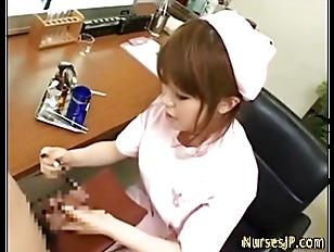 Asian nurse nasty jerks