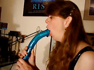 Deepthroat dildo blowjob