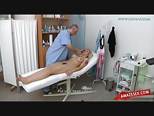 Hot exam for hot blonde