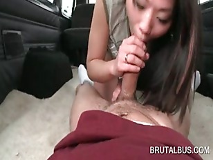 Teen asian amateur blowing hug