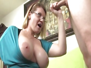 Busty mature with glasses milk
