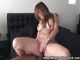 Her asian pussy gets filled wi