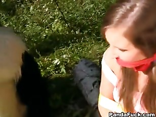 Picture Naughty Girl Was Tied And Fucked By Panda