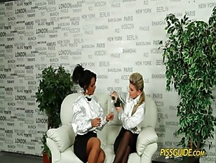 Russian Stewardess Pair Rub Pu