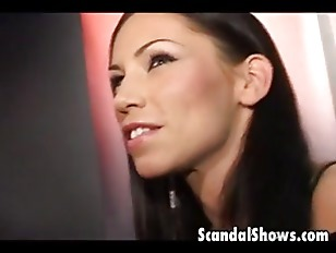 Attractive horny brunette show