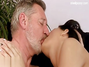 Picture Old Gramps Cums On Her Hot Tits