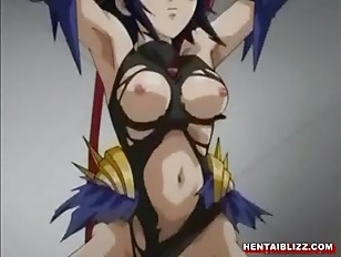 Supergirl hentai gets punished by taking a big pole that penetrates through her whole body