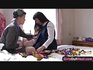 Girls Out West - Hairy lesbian