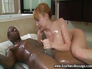 Asian babe sucks dick