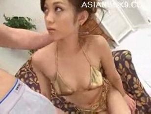 Miho Maeshima Lovely Asian Babe Gives Amazing Blowjob