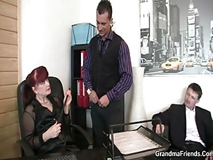 Two lucky studs bang business